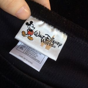 Disney Tops - Vintage Walt Disney World Velvet Mickey Mouse Top